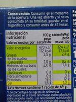 Mejillones al natural - Informations nutritionnelles - es