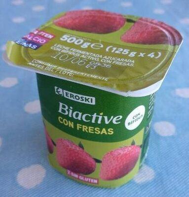 Yogur biactive con fresas - Producte - es