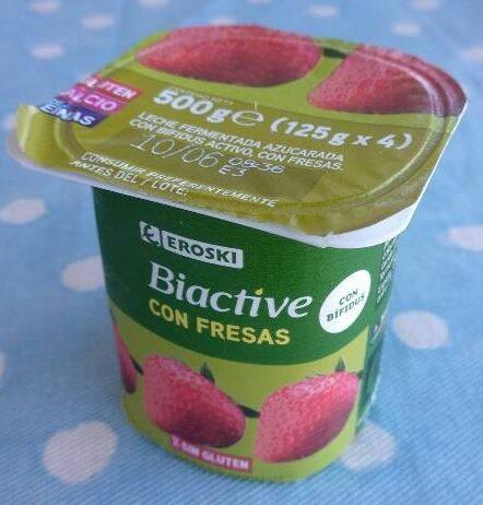 Yogur biactive con fresas - Producte