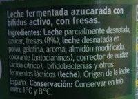 Yogur biactive con fresas - Ingredients - es