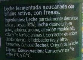 Yogur biactive con fresas - Ingredients
