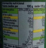 Yogur biactive con fresas - Informació nutricional - es