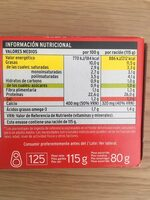 Sardinas en tomate - Nutrition facts