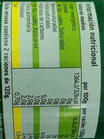 Corazones de alcachofa - Ingrediënten - es