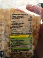 Pasta tiburones - Informació nutricional