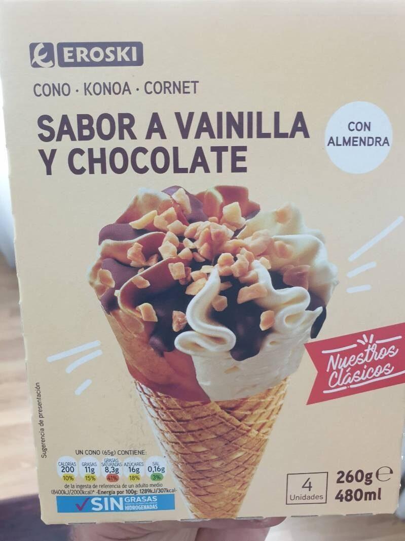 Cono sabor a vainilla y chocolate - Producte