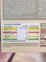 Cono sabor a vainilla y chocolate - Informació nutricional