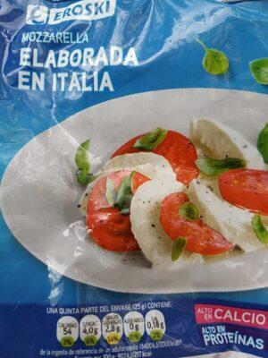 Mozzarella elaborada en Italia
