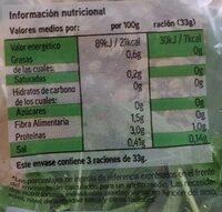 Rúcula - Información nutricional - es