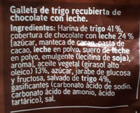 Galletas digestive chocolate - Ingredientes - es