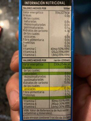 Sannia - Néctar de piña - Informació nutricional