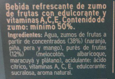 Zumo Multifrutas Sannia - Ingrediënten