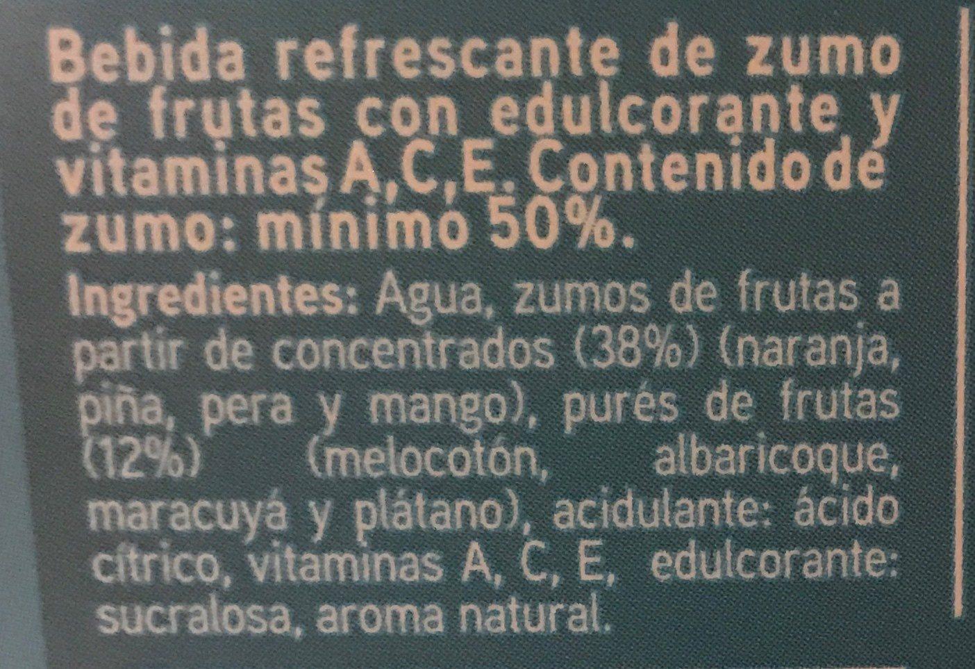 Sannia - Zumo multifrutas sin azúcares - Ingrédients