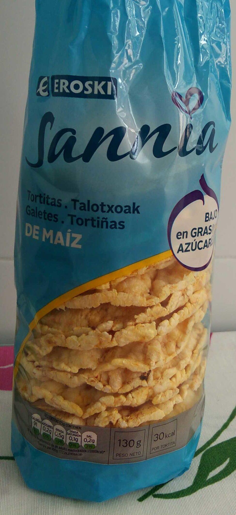 Sannia - Tortitas de maíz - Producto