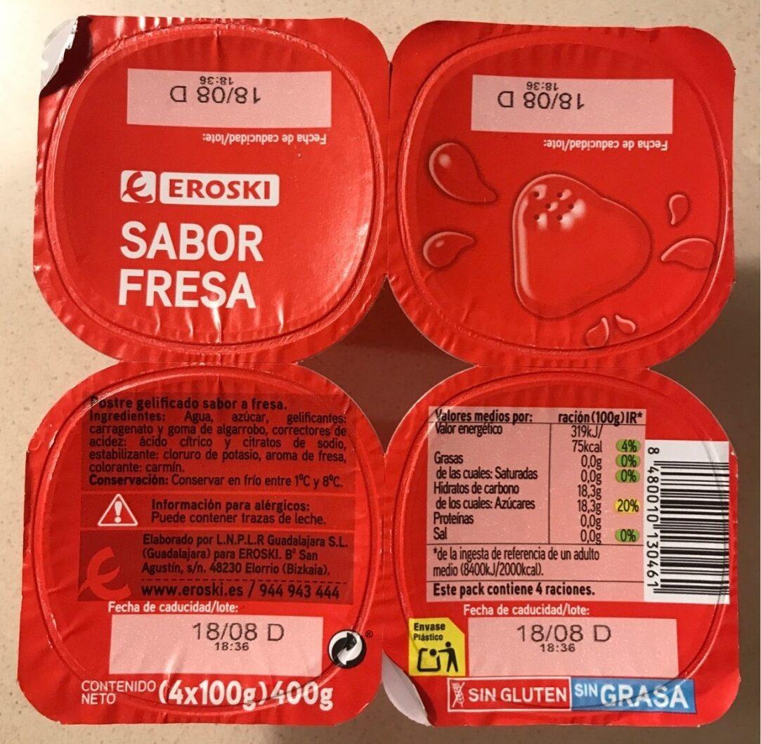 Gelatina sabor fresa - Product