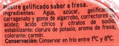 Gelatina sabor fresa - Ingredients