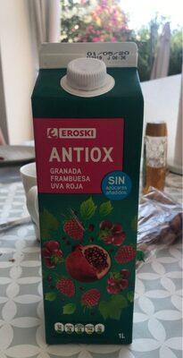 Zumo antiox (granada, frambuesa, uva roja)