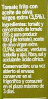 Tomate frito con aceite de oliva - Ingrédients - es