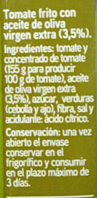 Tomate frito con aceite de oliva - Ingredients