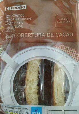 Bizcochitos con cobertura de cacao