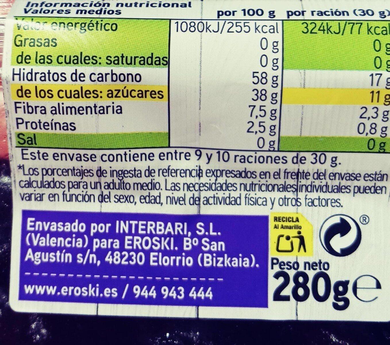 Ciruela sin hueso - Informations nutritionnelles - es