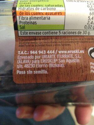 Frutas desecadas Pasa Thompson - Ingrédients - es