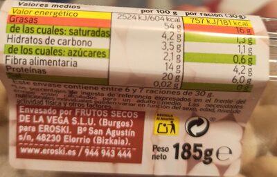 Almendra cruda - Informations nutritionnelles - es