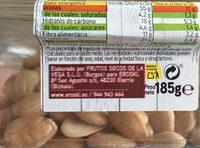 Almendra frita salada - Información nutricional - es