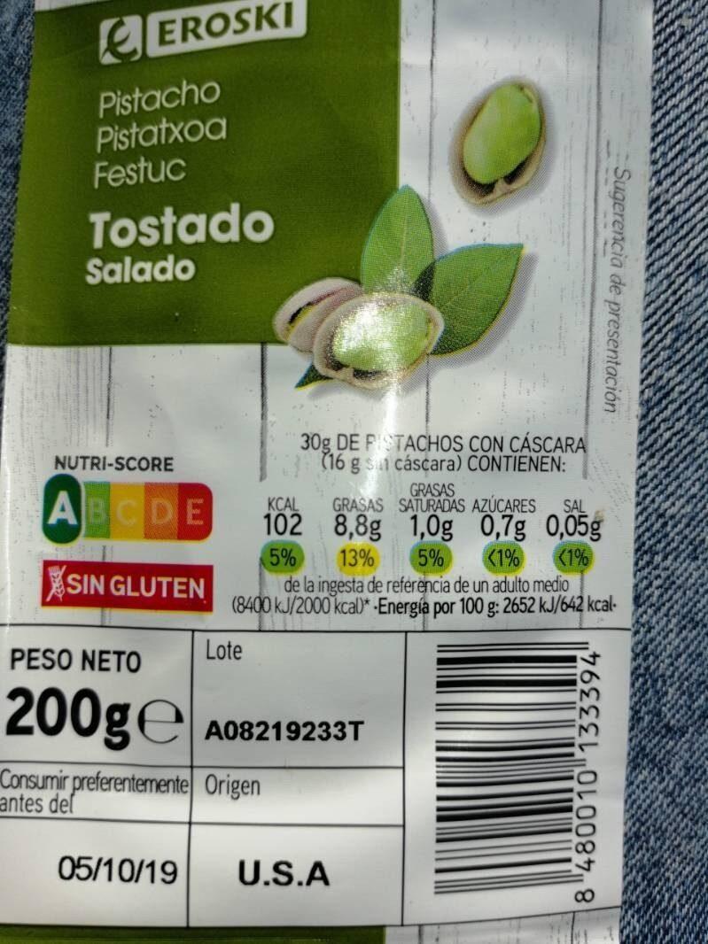 Pistacho tostado Salado - Producto - es