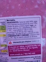 Mortadela - Ingrediënten
