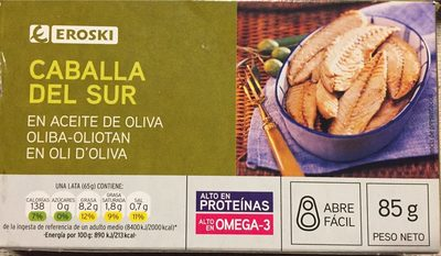 Caballa del sur en aceite de oliva - Producto