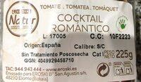 Cocktail romántico - Voedingswaarden