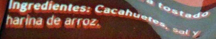 Cacahuetes tostados con sal - Ingredients - es