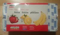 Yogures de fresa, limón y plátano - Product - es