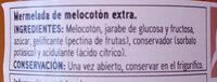 Ermelada de melocotón - Ingredientes - es