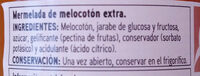 Ermelada de melocotón - Ingrediënten - es