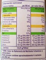 Leche sin lactosa semidesnatada - Información nutricional