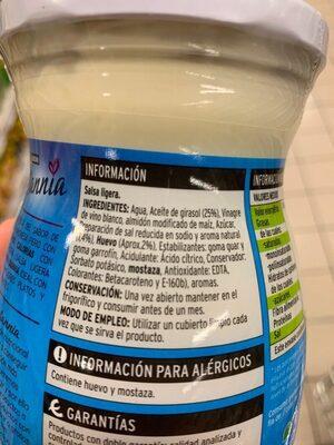 Sannia Salsa Ligera - Ingrédients