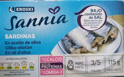 Sannia - Sardinas en aceite de oliva