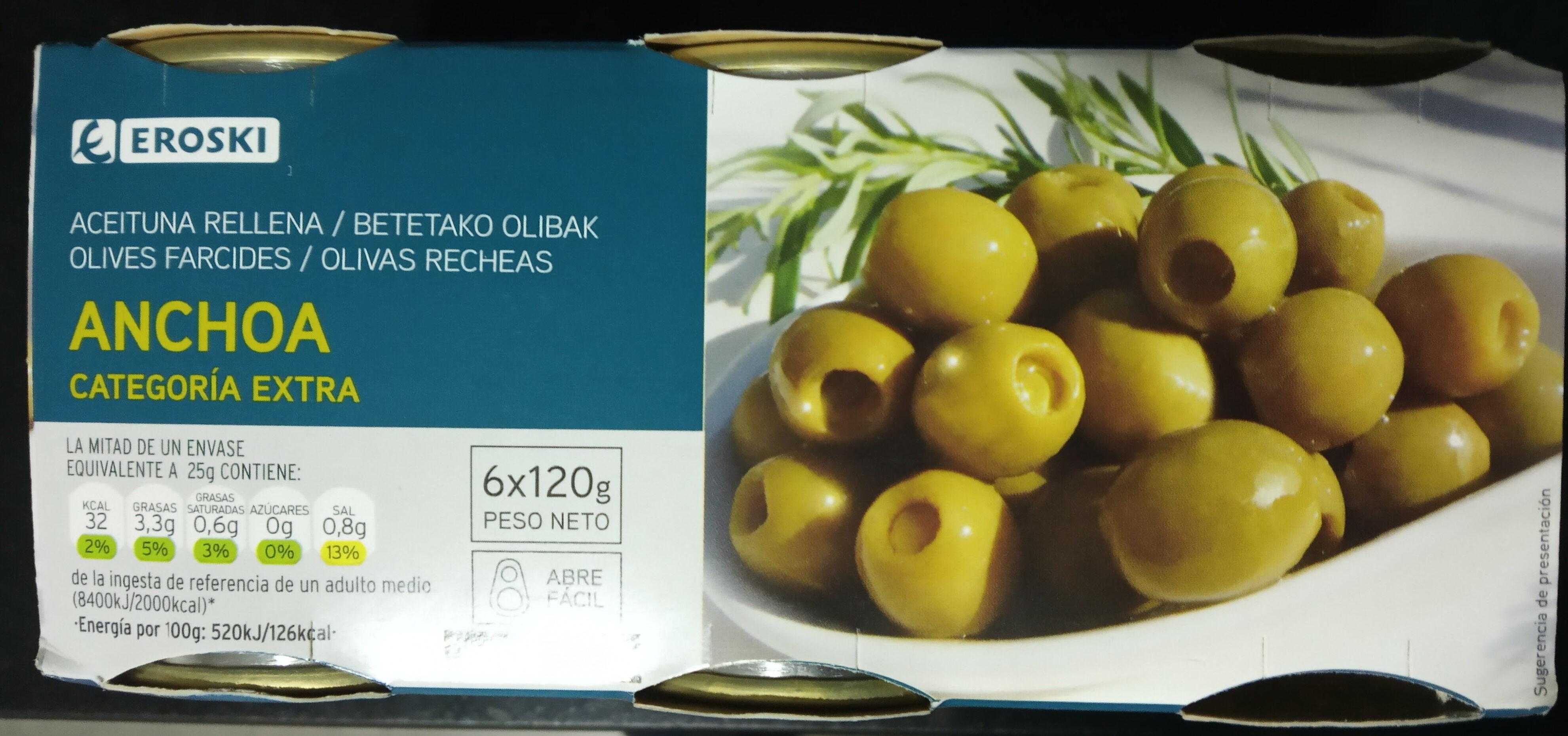 Aceituna Rellena Anchoa - Product - en