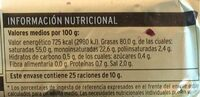 Mantequilla con sal - Voedingswaarden - es