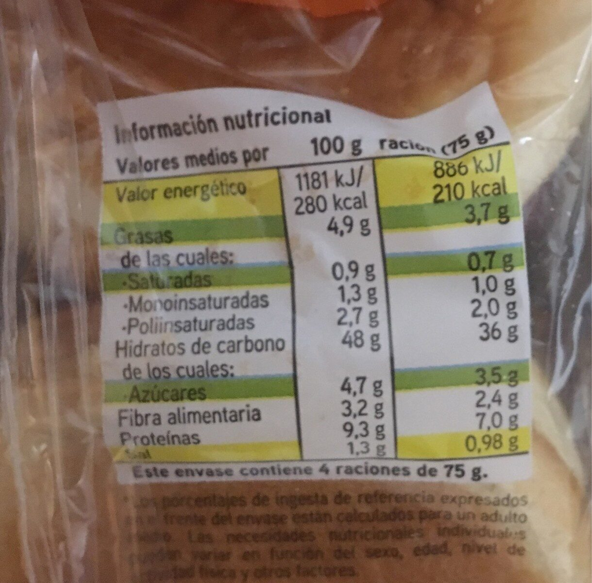Maxi Burguer - Informations nutritionnelles - es