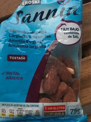 Sannia - Almendra largueta tostada - Ingredientes