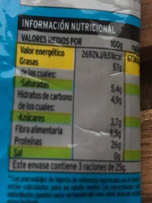 Sannia - Almendra largueta tostada - Información nutricional