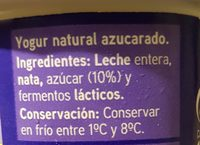 Yogur - Ingredients