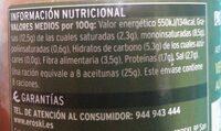 Verdiales partidas aliño de la abuela - Nutrition facts