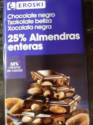 Chocolate negro con almendras - Producte