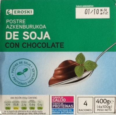 Postre de soja con chocolate