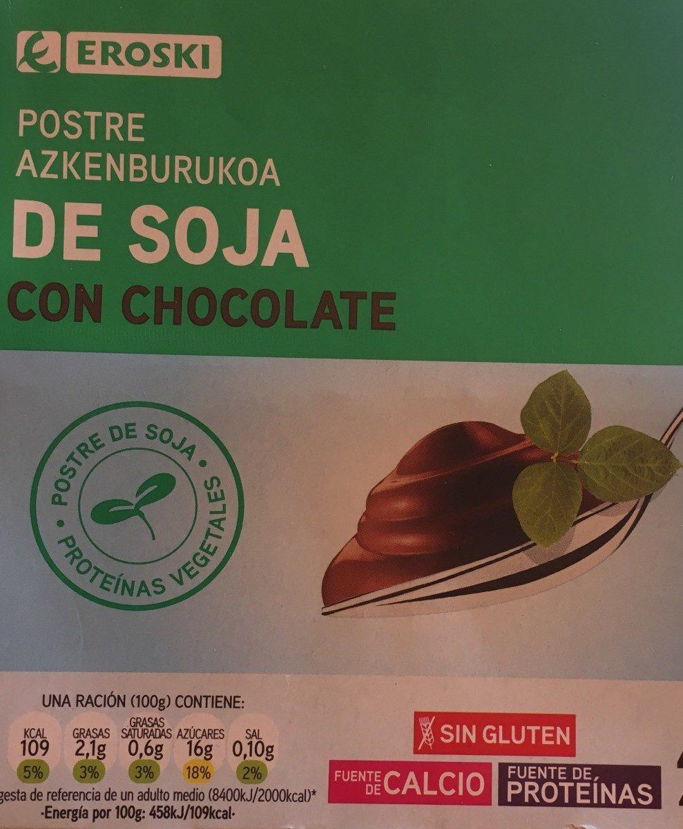 Postre de soja con chocolate - Produit - fr