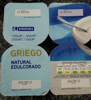 Yogur griego natural edulcorado - Product